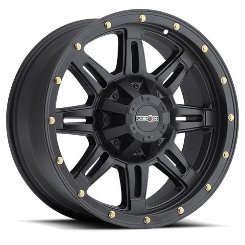 Vision 400 Incline Matte Black Wheel with Painted Finish
