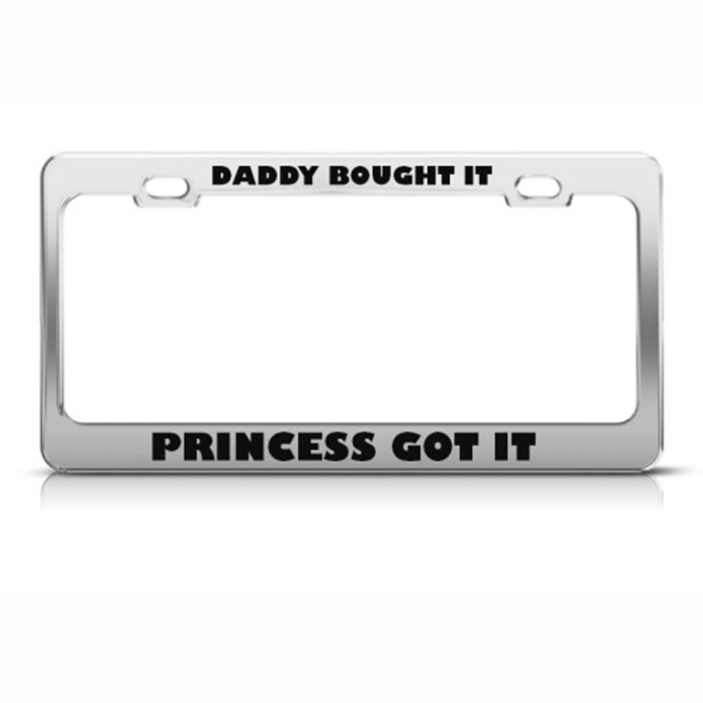 DADDY kaufte ES Prinzessin Got It Humor Funny Metall Nummernschild ...