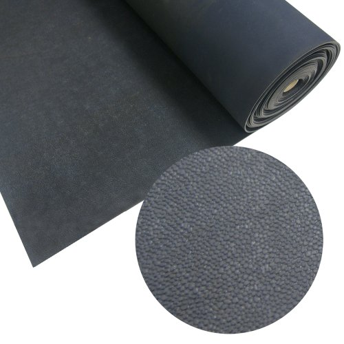 Rubber-Cal 'Tuff-n-Lastic Rubber Runner Mat - 1/8 inches x 48 inches x 6ft Rolled Rubber Flooring - Black
