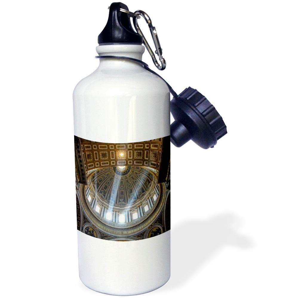 3dRose Elysium Photography - Architecture - St. Peters Basilica detail, Rome, Italy - 21 oz Sports Water Bottle (wb_289616_1)