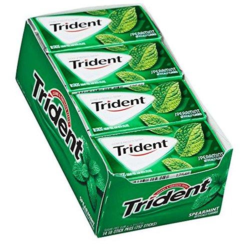 Trident Spearmint Sugar Free Gum - 18 ct. - 14 pk. - SC