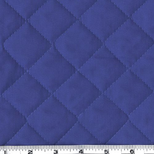 Double-Sided Quilted Broadcloth Blue Fabric By The - Fabric The Yard By Pre-quilted