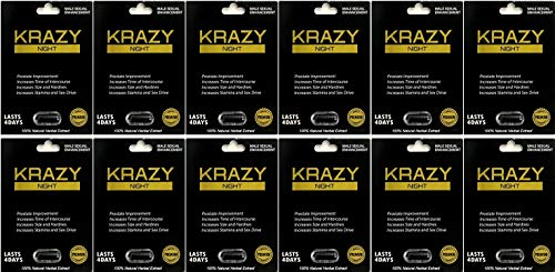 Krazy Night Black 12Pills Best Male Enhancing Natural Performance Capsules New Premierzen Most Effective Natural Amplifier for Performance, Energy, and Endurance
