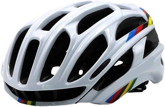 Casco Bicicleta YDHWWSH Cubierta del Casco De La Bicicleta con Las Luces Led MTB Montaña Carretera Ciclismo Bicicleta Casco Hombres Mujeres: Amazon.es: Deportes y aire libre