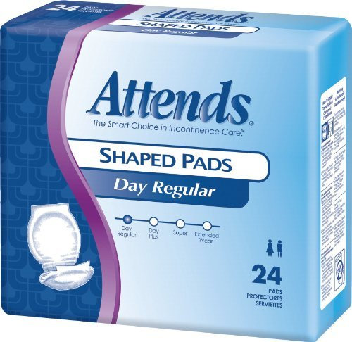 Coupons Maxi Pads - Attends Day Plus Shaped Pad 24-1/2