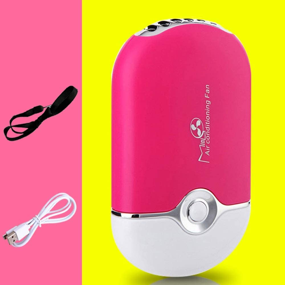 Color : Pink ElevenY Mini Fan Mini Portable Portable Office Air Conditioning Humidifier Home Fan Cooler Fan Cooling for Outdoor Home and Travel Boys Girls Adults Summer Artifact