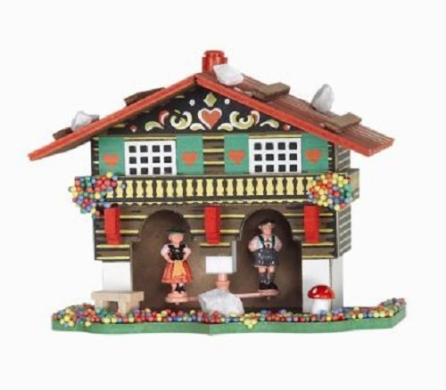 Pinnacle Peak Trading Company German Weather House with Bavarian Couple Made in Germany Weatherhouse