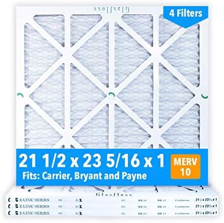 [해외]Glasfloss 21-12 x 23-516 x 1 MERV 10 Air Filters Pleated Made in USA (Case of 4) Fits Listed Models of Carrier Bryant & Payne Removes Dust Pollen & Many Other Allergens. / Glasfloss 21-12 x 23-516 x 1 MERV 10 Air Filters Pleated Ma...