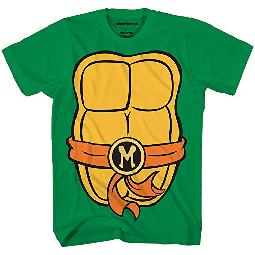 Teenage Mutant Ninja Turtles TMNT Mens Costume T-Shirt (Small, Michelangelo) by -