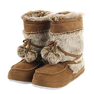 Forfoot Women's Cozy Fleece House Indoor Slipper Boots