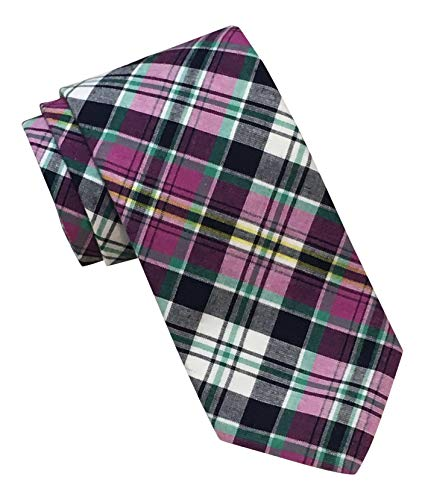 Brooks Brothers Makers and Merchants XL Multicolored Silk Blend Plaid Tie (Ties For Brooks Men Brothers)