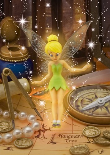 Disney Amazing 3D Greeting Card Postcard - Collectible Tinker Bell Guide 3D Card -