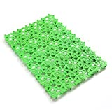 Where Can You Buy Egg Crate Foam 4-Pack Pet Mat for Bunny Rabbit Cage, 11.8 x 7.87 Inches Per Pieces Plastic Heart Hole Splice Feet Pad Water Leak Holder in Cages Dog Cat Rabbit Mats (Green)
