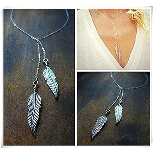6288648b4928b Envio gratis Collar de plumas de tamaño pequeño. Tiny encanto collar.  Diario joyas