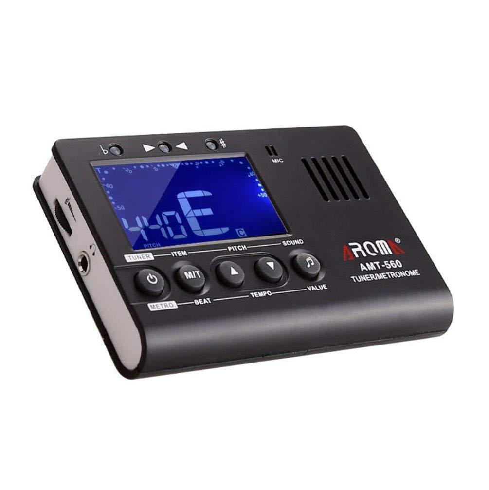 ZWWF Accordeur Electronique Métronome avec écran Couleur LCD pour Guitare Basse Ukulélé Violon Violoncelle