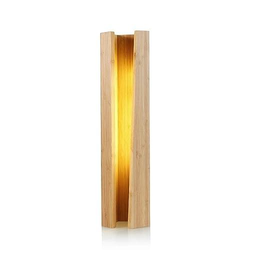 Lámpara de mesa pentagonal de madera creativa para el hogar ...