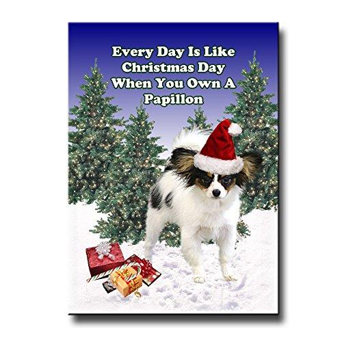 - Papillon Christmas Holidays Fridge Magnet