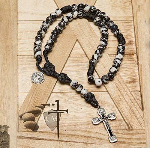 Dragon Slayer Stone Paracord Rosary - Catholic Milestones
