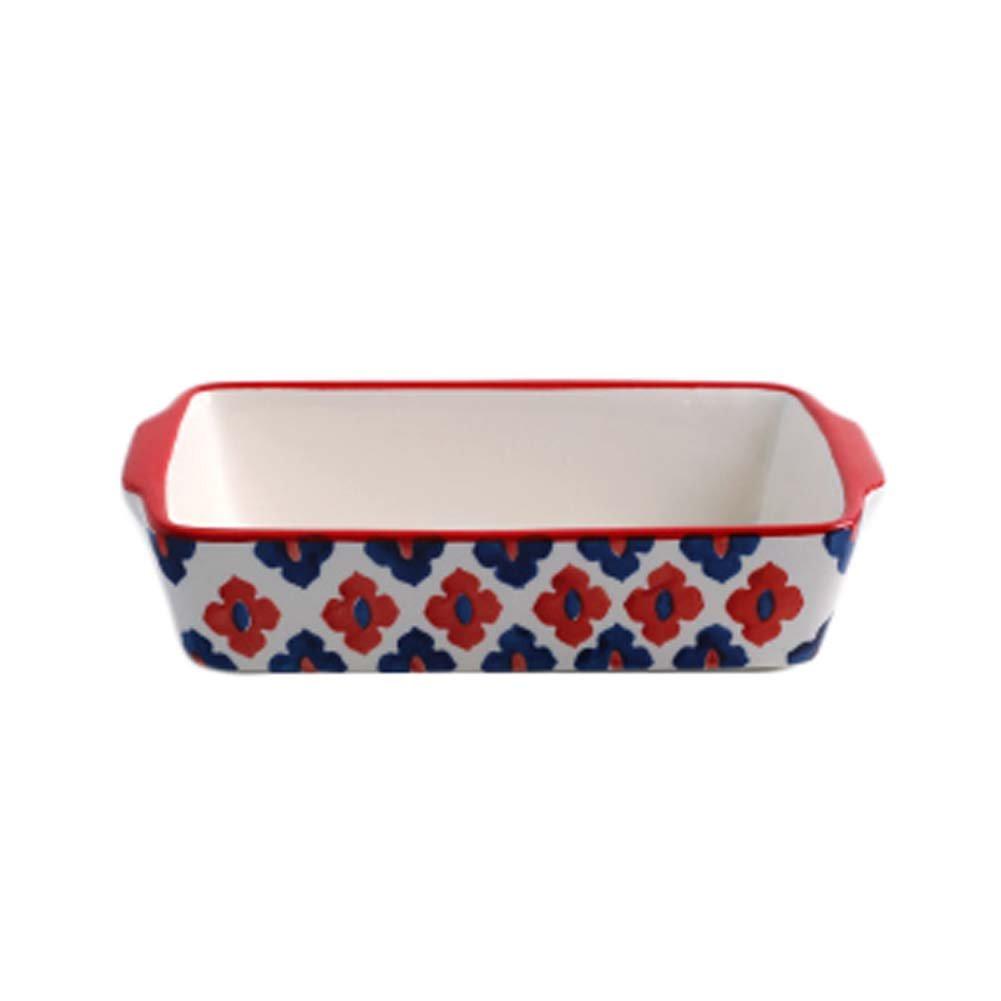 Ceramic Baking Plates Heat Resistant Binaural Bakeware Oven Special Tableware #10 George Jimmy