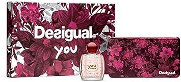 Desigual Perfume Coffret You Eau de Toilette Spray con neceser Marcia 50 ml: Amazon.es: Belleza