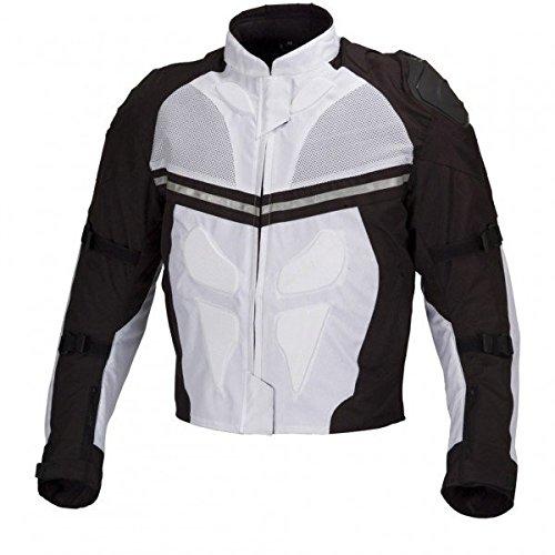 White And Black Motorcycle Jacket - 6
