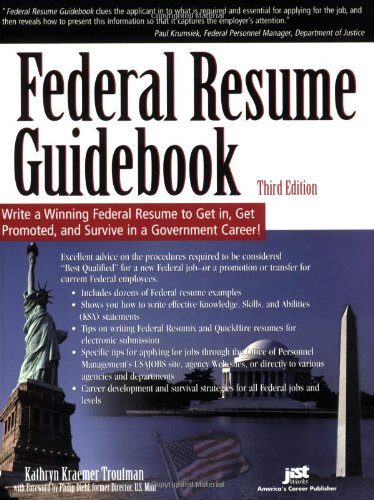 federal resume guidebook write a winning federal resume to get in