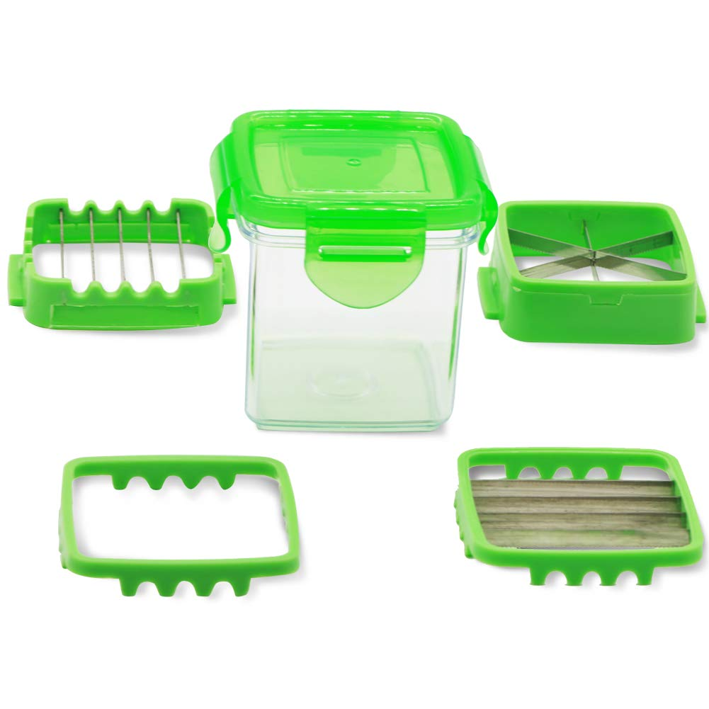 Vegetables Cutter, 5 In 1 Fruits Cutter Chopper Slicer Column Egg Cutter Crusher Perfect for Kitchen Cooking Xmas New Year Dinner Party (Green) by ASCENDAS (Image #7)