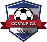Costa Rica Flag National Soccer Team Badge Home Decal Vinyl Sticker 13'' X 12''