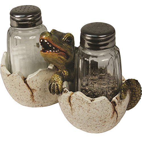 (River's Edge Alligator Glass Salt And Pepper 548)