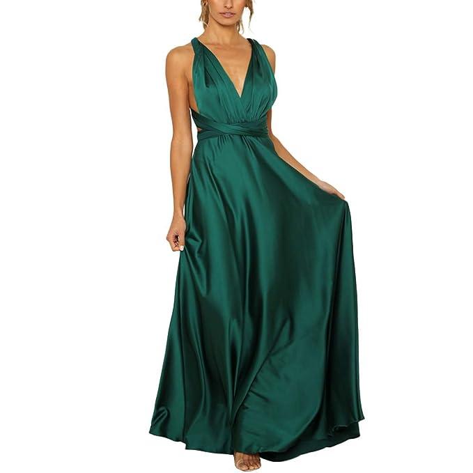 b5bda427a1 Pandaie-Womens Dresses, Women Ladies Blackless Sleeveless Deep V ...