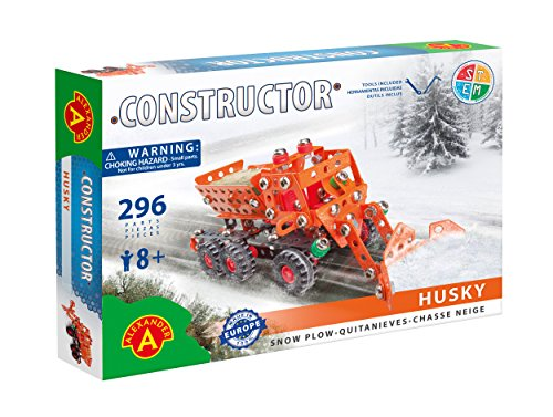 Stemkids Constructor Erector Husky Snow Plow - Model Building Set, 296 Pieces, for Ages 8+, 100% Compatible with All Major Brands Including ()