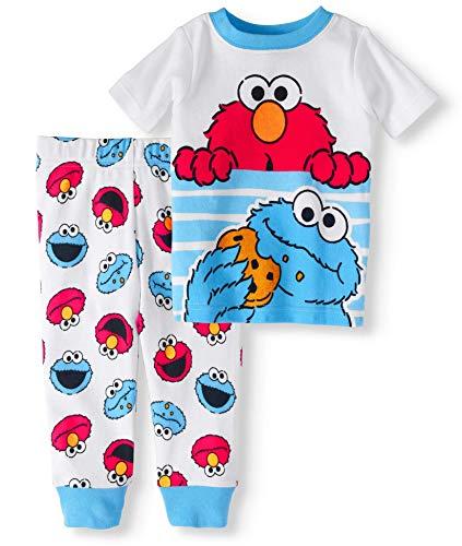 - Baby Boys Elmo & Cookie Monster Snug Fit Cotton Pajamas (12 Months)