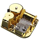 18 Note Musical Mechanism Movement For DIY Music Box, My Heart will Go On, Golden Clockwork music movement