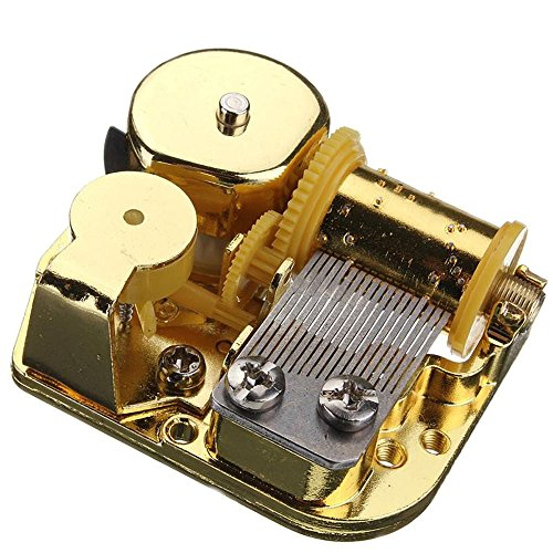 18 Note Musical Mechanism Movement For DIY Music Box, You Are My Sunshine, Golden Clockwork music movement