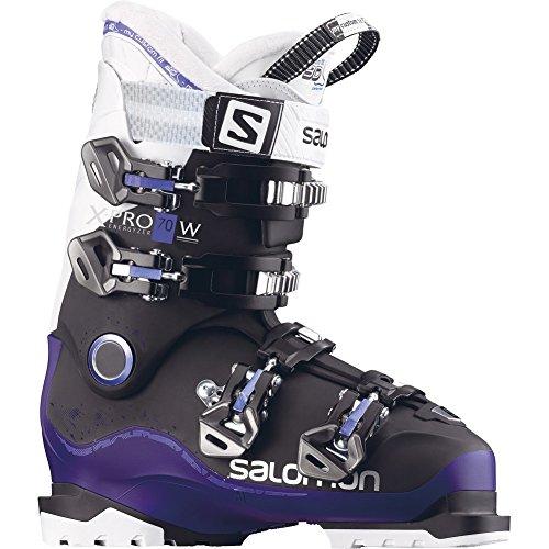 Salomon Womens Ski Boots - Salomon X-Pro 70 W Womens Ski Boots 2018 - 23.5/Black-Dark Purple-White