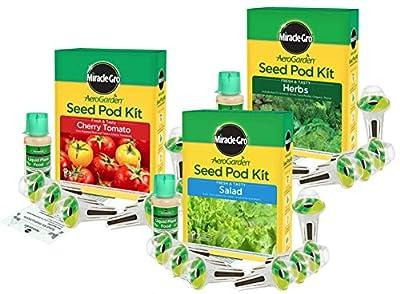 Fresh and Tasty Seed Kit Bundle by Aerogarden Tomato Salad Herbs