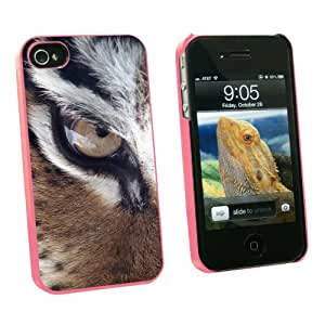 Graphics and More Tiger Eye - Snap On Hard Protective Case for Apple iPhone 4 4S - Pink - Carrying Case - Non-Retail Packaging - Pink