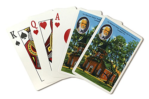 Lexington, VA - Exterior View of the Lee Memorial Chapel, Washington and Lee University (Playing Card Deck - 52 Card Poker Size with Jokers) ()