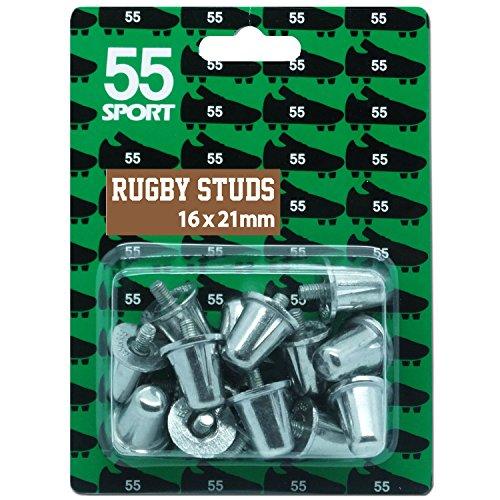 55Sport aluminio repuesto Rugby studs bs6366, 16 x 15 mm