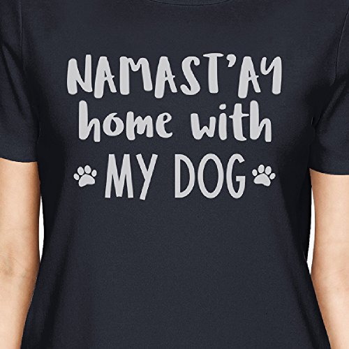Home Femme Unique Namastay Taille T My Courtes Dog Navy With Printing 365 shirt Manches x0pwXzpq