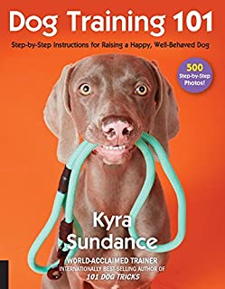 Book Cover: Dog Training 101: Step-by-Step Instructions for raising a happy well-behaved dog