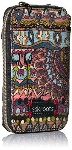 One Sakroots Cross World Convertible Artist Wristlet Smartphone Bag Body Circle Taupe PqrPwznF