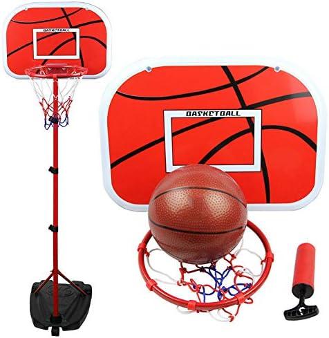 バスケットボールフープとスタンド、屋内子供用バスケットボールスタンド屋内屋外練習用にホイールを上げ下げすることができます