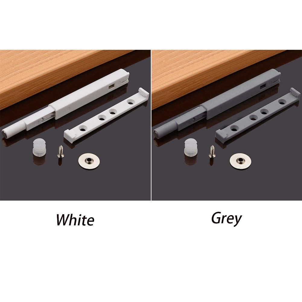Door Kitchen Noise Reduce Drawer Furniture Push Open Damper Buffer Cupboard Cabinet Catch Hardware Magnetic Tip Easy Install - (Color: Gray)