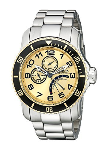 Invicta Men's 15337 Pro Diver Gold Dial Stainless Steel Watch ()