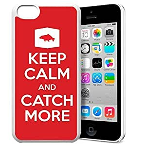 Keep Calm and Catch More Pattern HD Durable Hard Plastic Case Cover for iPhone 5c Design By GXFC Case