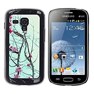 iKiki Tech / Estuche rígido - Flowers Petals Blooming Tree Cherry - Samsung Galaxy S Duos S7562