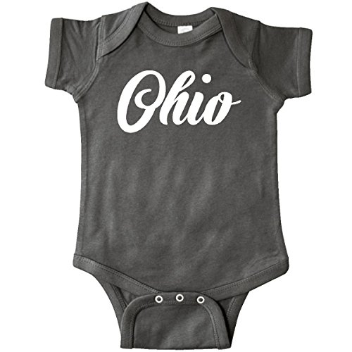 inktastic - Ohio Text Infant Creeper 12 Months Charcoal Grey 27c3a