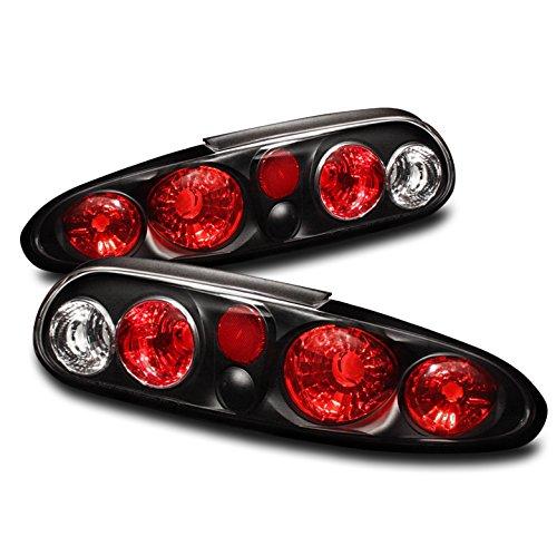 ZMAUTOPARTS ChevyChevrolet Camaro Altezza Rear Tail Brake Lights Lamps Black Set Pair