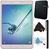 Samsung 32GB Galaxy Tab S2 8'' Wi-Fi Tablet (Gold) SM-T713NZDEXAR + Deluxe Cleaning Kit + MicroFiber Cloth + Universal Stylus for Tablets + Tablet Neoprene Sleeve 10.1'' Case (Black) Bundle